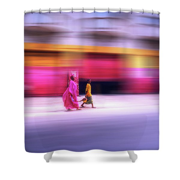 In Sync In Senegal Shower Curtain