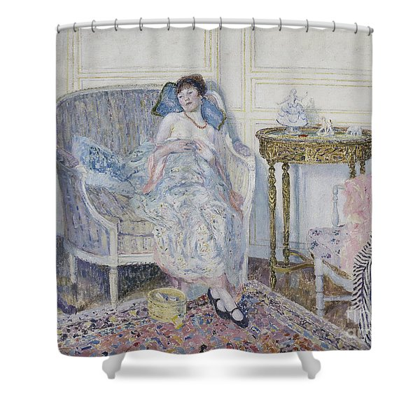 In The Boudoir Shower Curtain