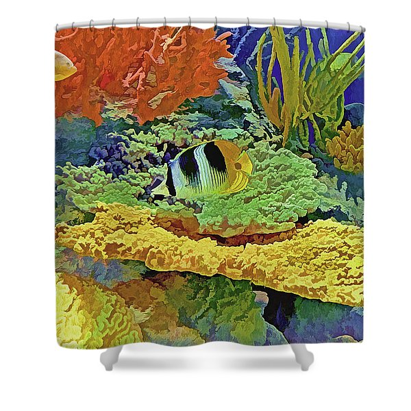 In The Coral Garden 10 Shower Curtain