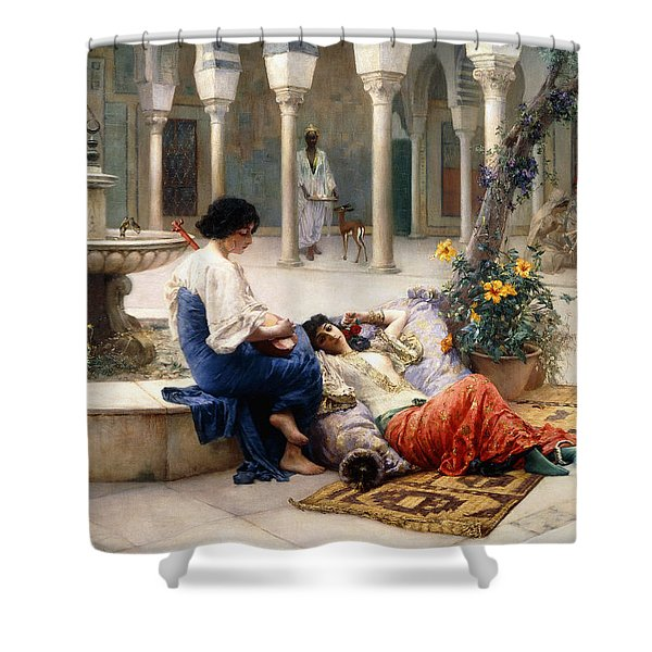 In The Courtyard Of The Harem Shower Curtain