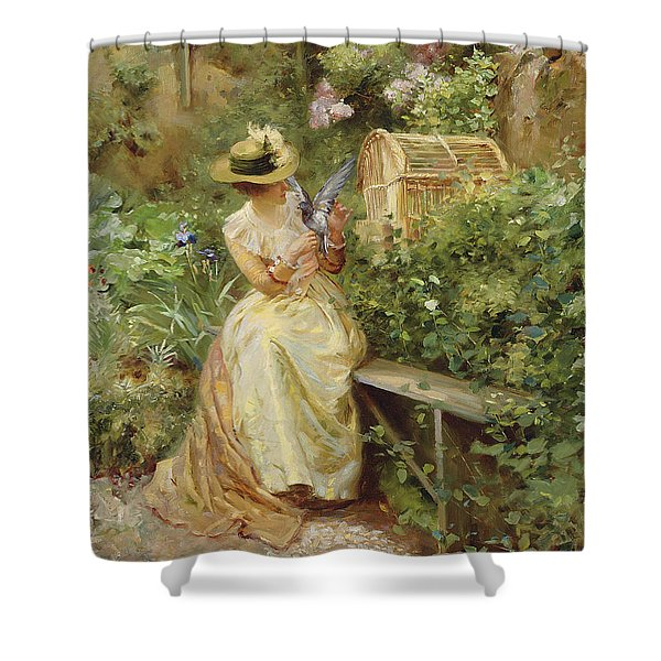 In The Garden, 1892 Shower Curtain