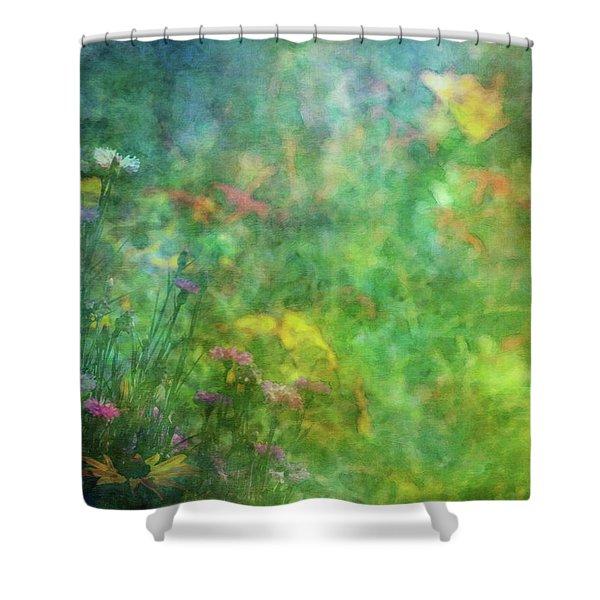 In The Garden 2296 Idp_2 Shower Curtain