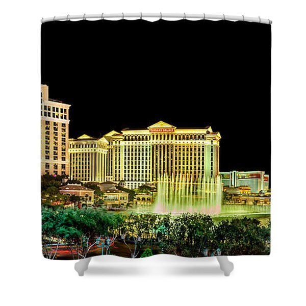 In The Heart Of Vegas Shower Curtain