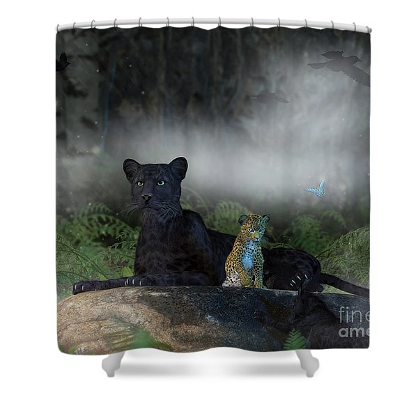 In The Jungle Shower Curtain