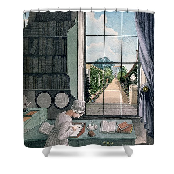 In The Library, St. James' Square Shower Curtain