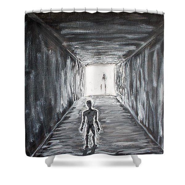 Shower Curtain featuring the painting In The Light Of The Living by Antonio Romero