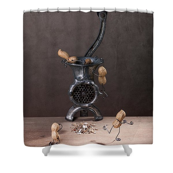 In The Meat Grinder 01 Shower Curtain