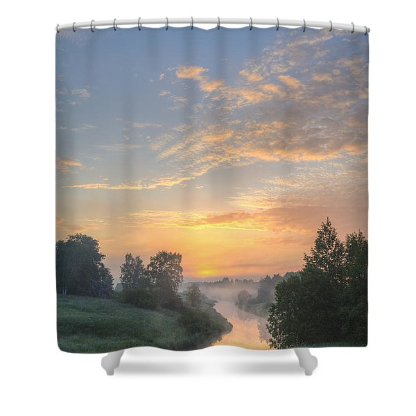 In The Morning At 04.27 Shower Curtain