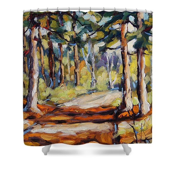 In The Pines Orginal Art By Prankearts Shower Curtain
