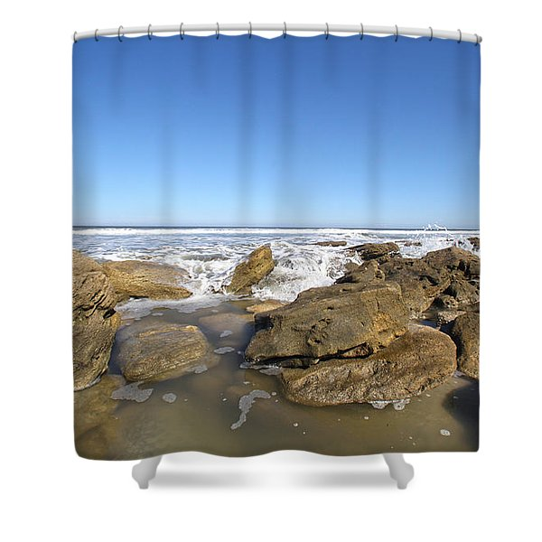 In The Rocks Shower Curtain