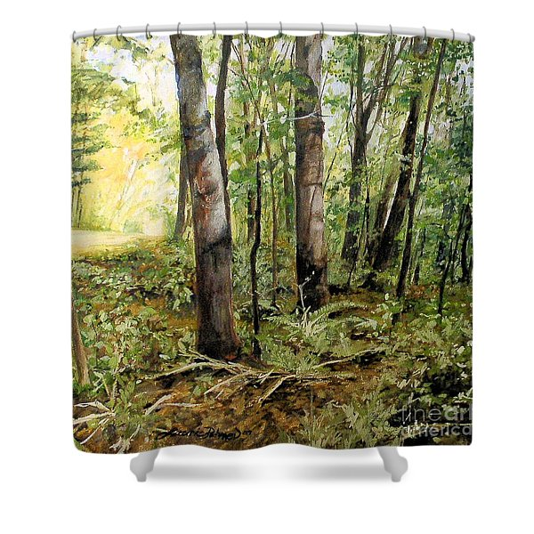 In The Shaded Forest  Shower Curtain