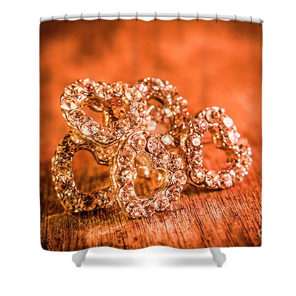 In The Shape Of Hearts Shower Curtain