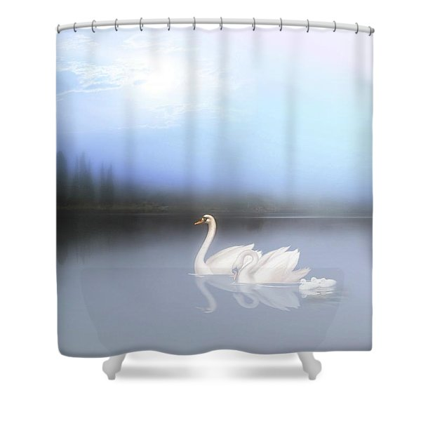 In The Still Of The Evening Shower Curtain