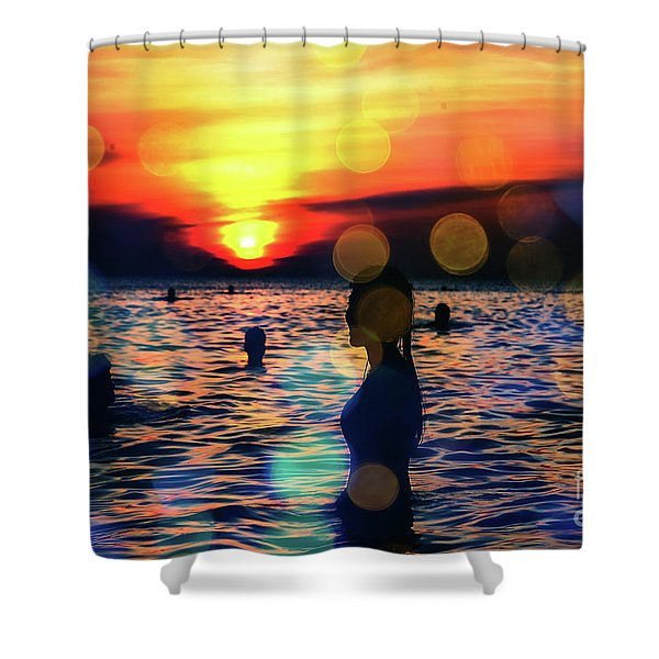 In The Water Shower Curtain