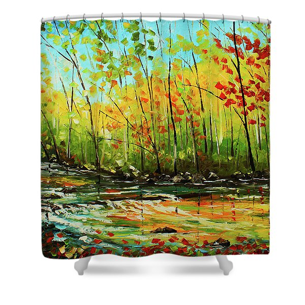 In The Woods Shower Curtain