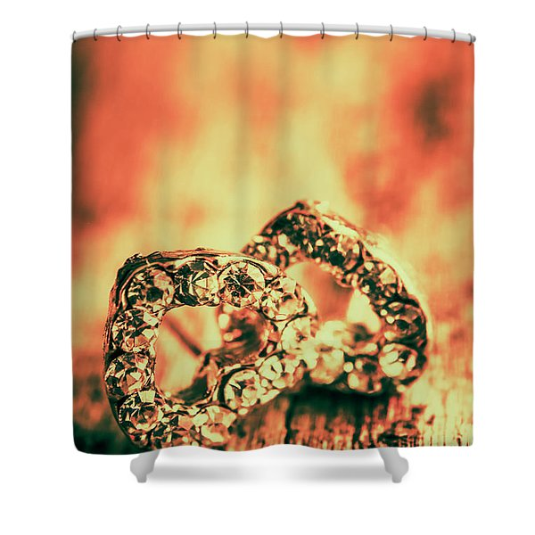 In Valentine Style Shower Curtain