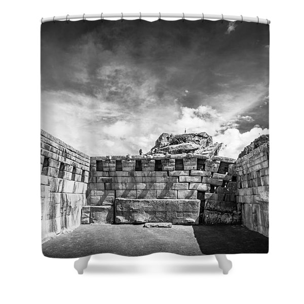Inca Walls. Shower Curtain