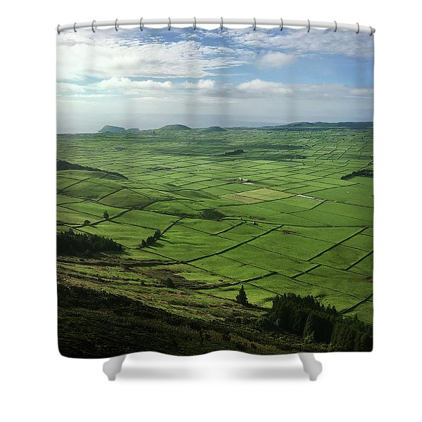 Incide The Bowl Terceira Island, Azores, Portugal Shower Curtain