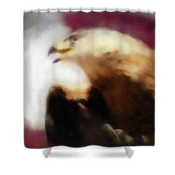 Independence Eagle Shower Curtain