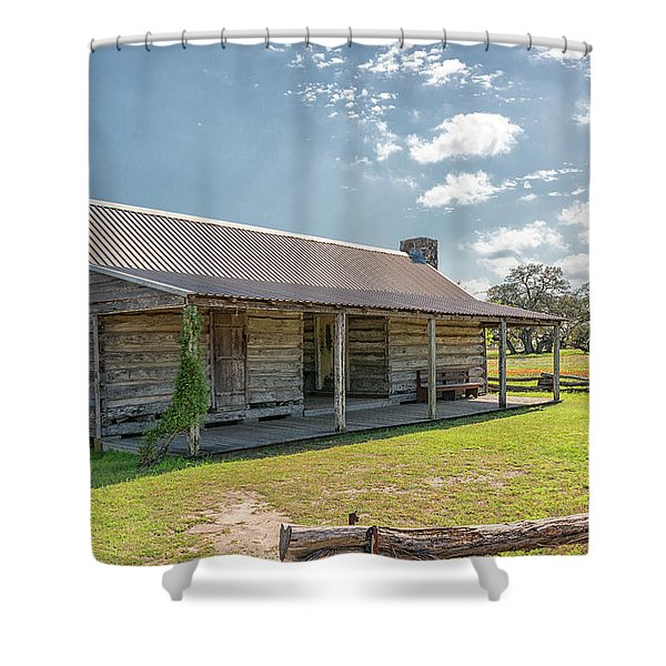 Independence Texas Cabin Shower Curtain