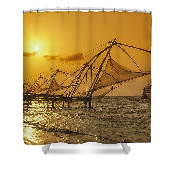Shower Curtain featuring the photograph India Cochin by Juergen Held