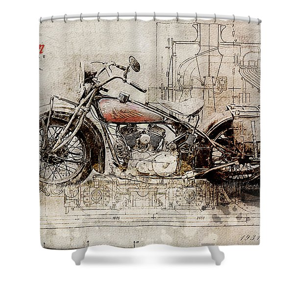 Indian 101 Scout 1931 Shower Curtain