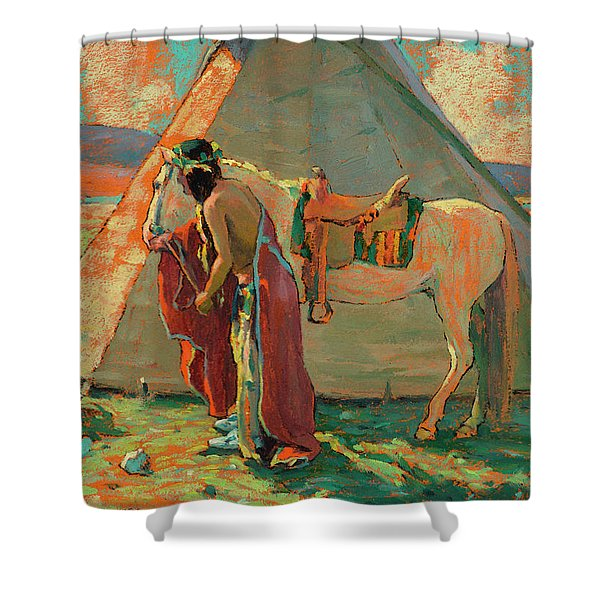 Indian Camp Shower Curtain
