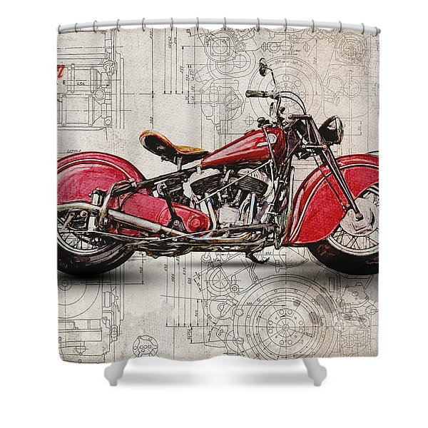 Indian Chief 1946 Shower Curtain