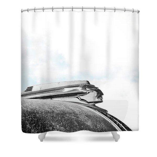 Indian Chief Hood Ornament Shower Curtain