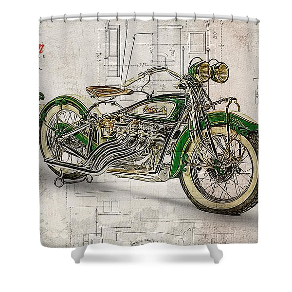 Indian Four 1930 Shower Curtain