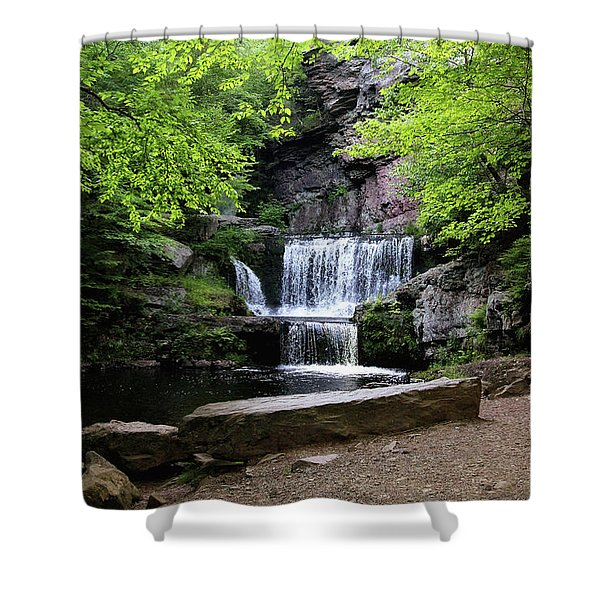 Indian Ladder Falls Shower Curtain