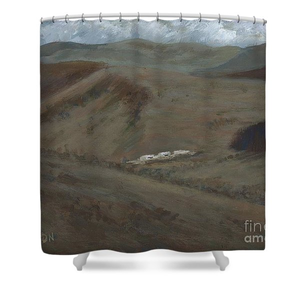 Indian Lodge - A View From The Top Ft. Davis, Tx Shower Curtain