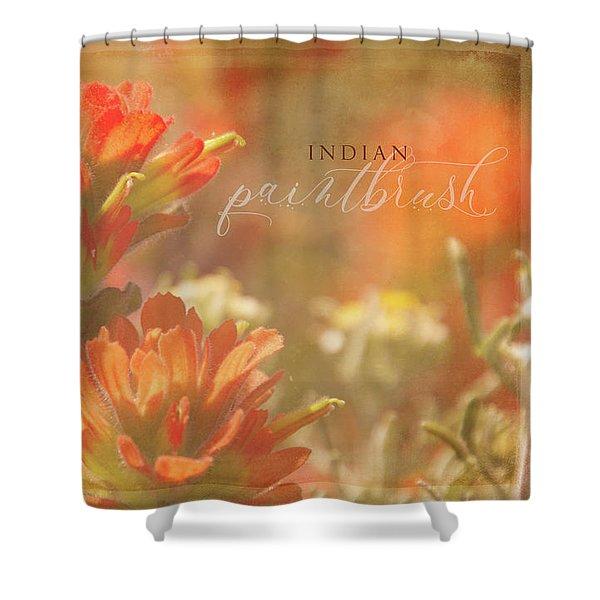 Indian Paintbrush - Horizontal Shower Curtain