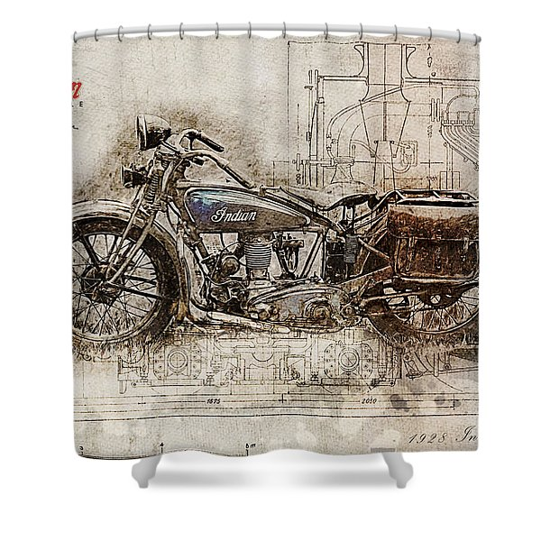 Indian Prince 1928 Shower Curtain