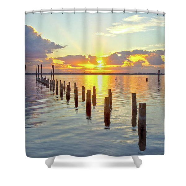 Indian River Sunrise Shower Curtain