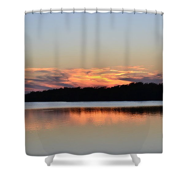 Indian River Sunset Shower Curtain