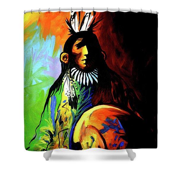 Indian Shadows Shower Curtain