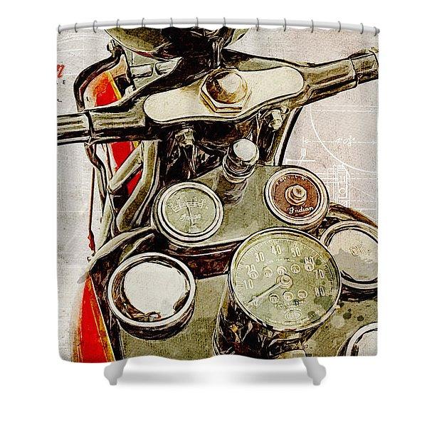 Indian Speedometer Shower Curtain