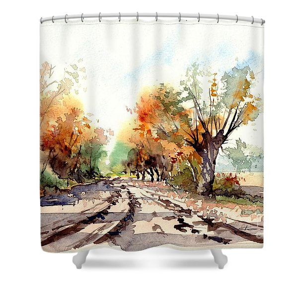 Indian Summer I Shower Curtain