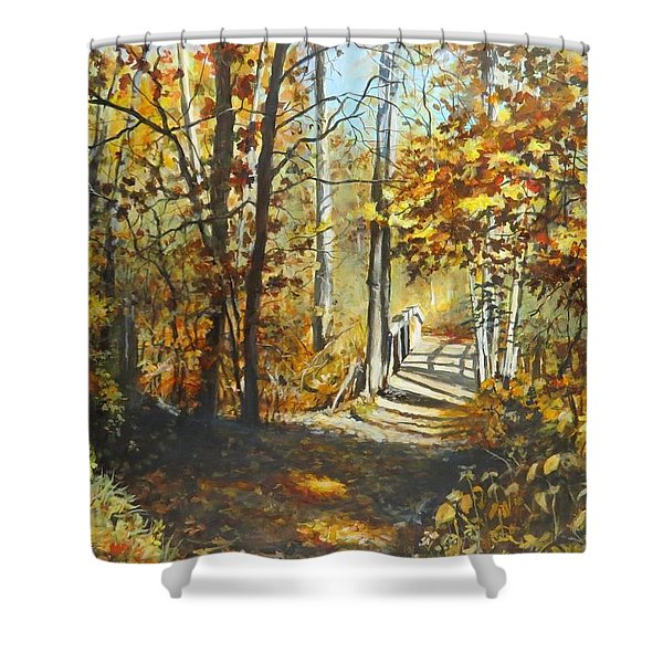 Indian Summer Trail Shower Curtain