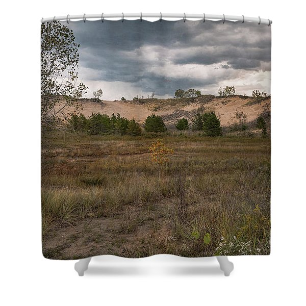 Indiana Dunes And The Beckoning Storm Shower Curtain