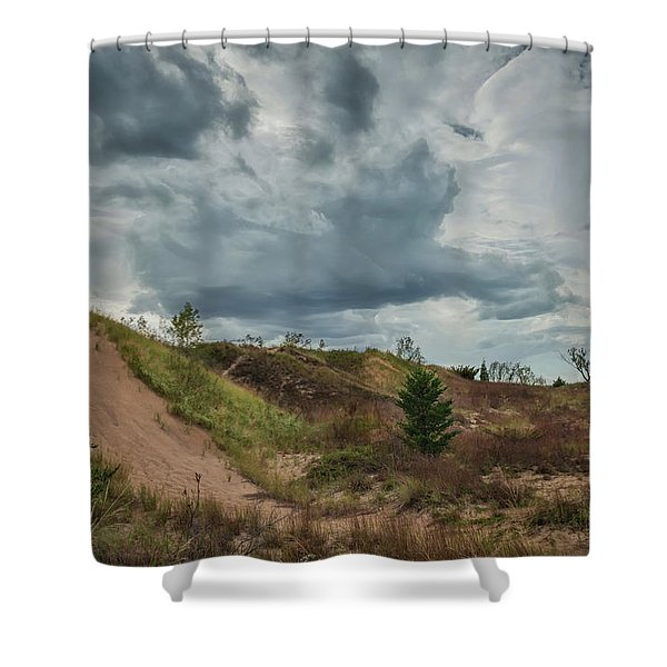 Indiana Dunes And The Clouds Of Storm Shower Curtain