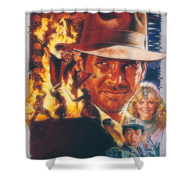 Indiana Jones And The Temple Of Doom 1984 Shower Curtain