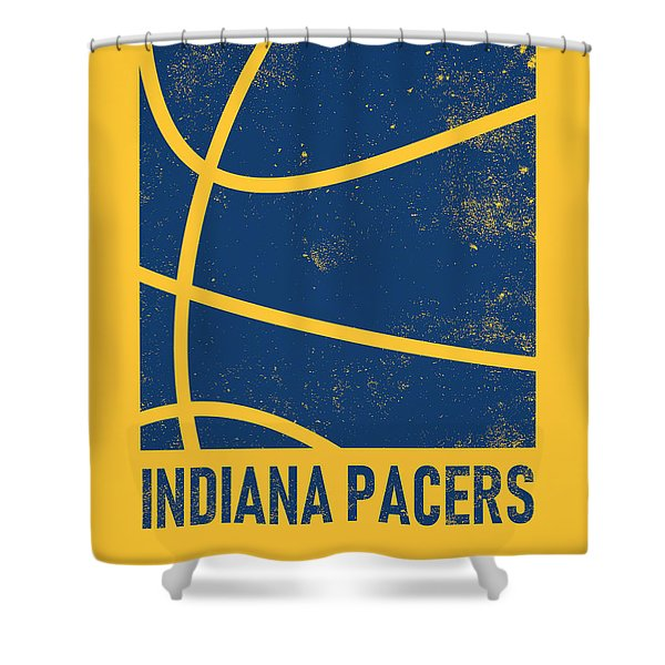 Indiana Pacers City Poster Art 2 Shower Curtain
