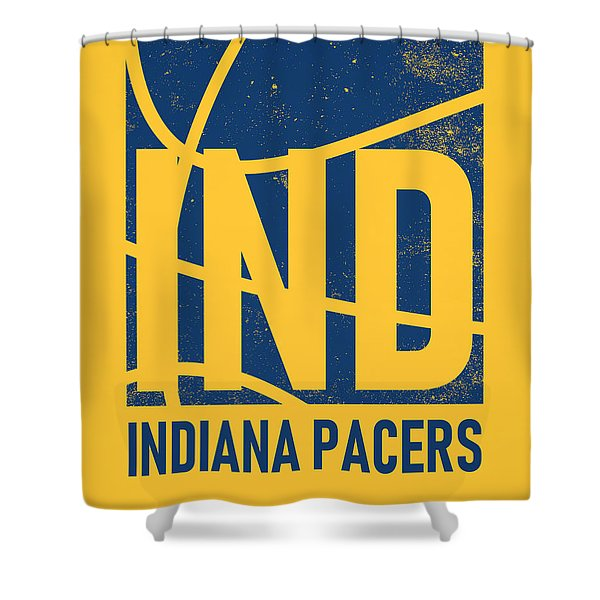 Indiana Pacers City Poster Art Shower Curtain