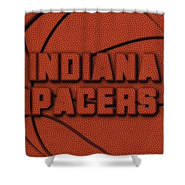 Indiana Pacers Leather Art Shower Curtain
