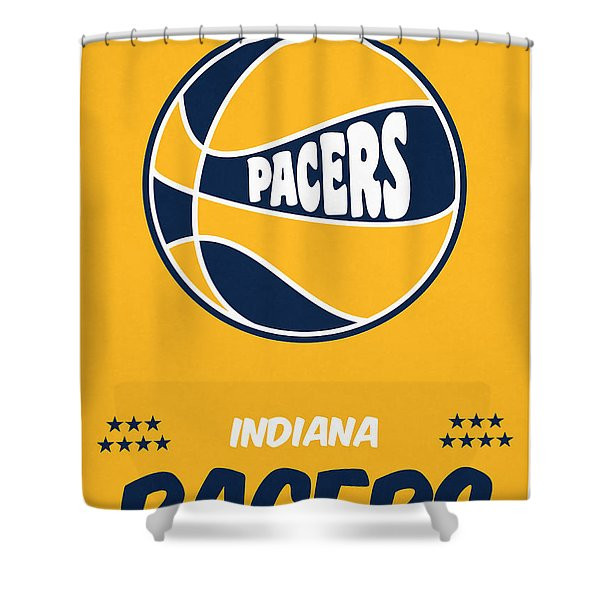 Indiana Pacers Vintage Basketball Art Shower Curtain