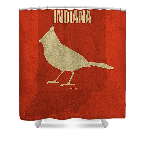 Indiana State Facts Minimalist Movie Poster Art Shower Curtain