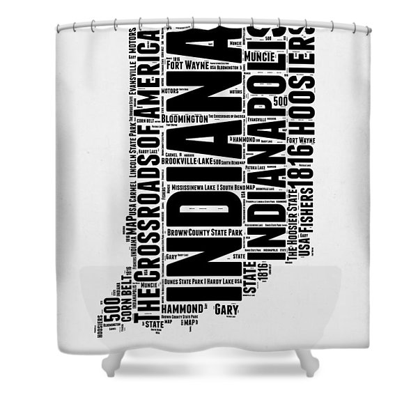 Indiana Word Cloud Map 2 Shower Curtain