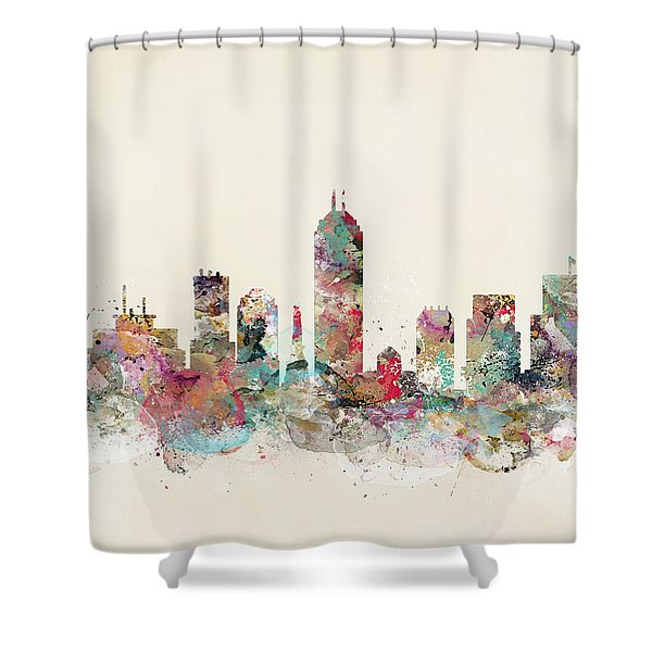 Indianapolis City Skyline Shower Curtain